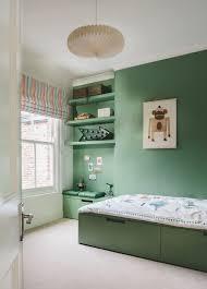 chambre enfant verte design interieur idée meuble rangement enfant sous lit chambre