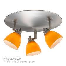 3 Bulb Flush Mount Ceiling Light Fixture by 3 Light Flush Mount Ceiling Light Directional Spot Light 3 Light