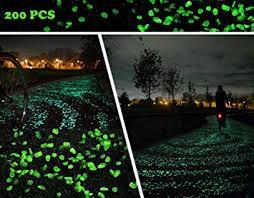 amazon com klemoo glow in the dark pebbles 200 pcs artificial