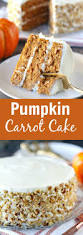 pumpkin carrot cake with cream cheese frosting