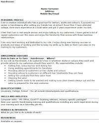 resume exles for hairstylist hairdresser cv exle icover org uk