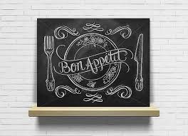 tableau cuisine design tableau bon appé cuisine ardoise tableau à craie décorations