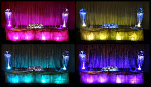 table skirting u0026 runners glow event decor
