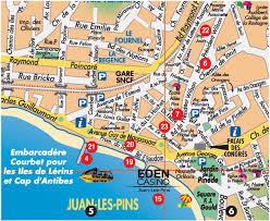 map of antibes juan les pins tourist map