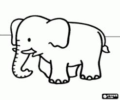 Coloriage Elephants à imprimer 2