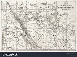 Rocky Mountain National Park Map Rocky Mountains Old Map Usa Created Stock Photo 82354993