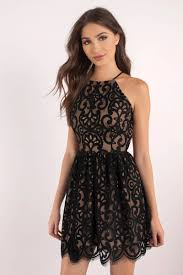 black lace dress black dress lace dress black flare dress skater dress