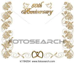 50th wedding anniversary drawings of 50th wedding anniversary k1184254 search clip