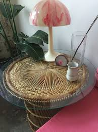 wicker side table with glass top vintage wicker side table with glass top wicker table glass and