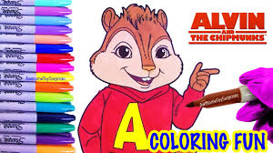 alvin coloring fun alvin chipmunks coloring activity