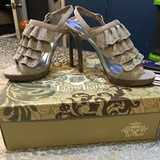 Lime Lights Shoes 80 Off Lime Light Shoes Cute Grey Silver Studded Heels From