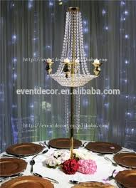 Wedding Chandelier Centerpieces Gold Table Flower Stand Centerpieces Tall Wedding Candelabra