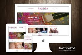 Makeup Artist Websites Emma Le Grys Makeup Artist 155 Creative Design U0026 Web Design