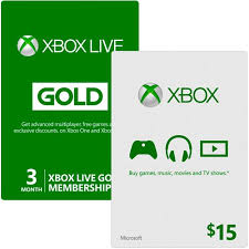 xbox live gift card xbox live bundle with 3 month gold membership and 15 xbox gift