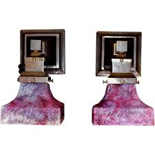 Sconces With Shades Mission Style Arts And Crafts Sconces With Bournique Shades From