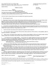 Notice Of Termination Sample by What Is A Petition Or Notice Of Petition