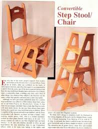 chair step stool plans u2022 woodarchivist