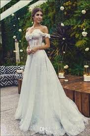 Boho Wedding Dresses Lahav Boho Wedding Dresses 2016 A Line Off Shoulder 3d Floral