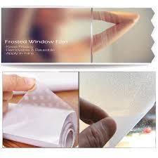 glass door film privacy 40x45cm frosted window film glass door decorative yellow flowers