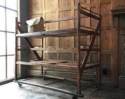 Wood Bakers Racks Furniture Vintage Bakers Rack Etsy