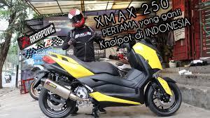 yamaha xmax 250 pertama yang ganti knalpot di indonesia