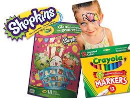 shopkins crayola giant coloring book