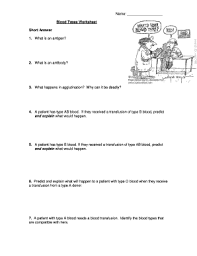 blood type worksheet free worksheets library download and print