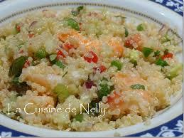 cuisiner quinoa taboulé de quinoa aux crevettes la cuisine de nelly