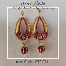 earrings models silk thread earrings in different models lakshmi arun hyderabad