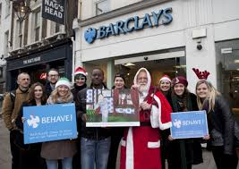 protestors gather at barclays in islington over tax gripe