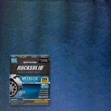 rust oleum rocksolid 70 oz metallic brilliant blue garage floor