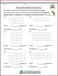 printable area worksheets 3rd grade area worksheets