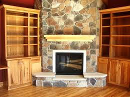 gas fireplace stone surround home fireplaces firepits stone