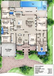 home plans homepw76422 2 454 square feet 4 bedroom 3 plan 65614bs one story four bed beauty bedrooms bath and pantry