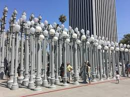 light display los angeles urban light by chris burden display picture of los angeles county