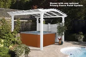 White Vinyl Pergola by Ultralast Bellagio Vinyl Pergola Va42011 On Sale Now