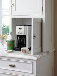 Hide A Bar Cabinet Coffee Bar And Baking Center Round Arch Kitchen Pinterest