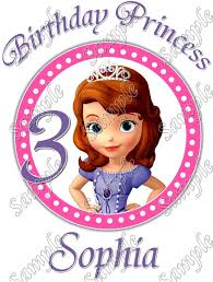 sofia birthday princess personalized iron transfer