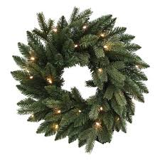 kurt adler 18 in pe led pre lit wreath p7284led products
