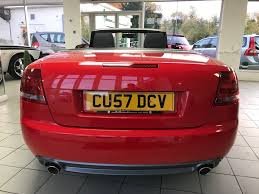 convertible audi red used red audi a4 cabriolet for sale staffordshire
