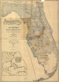 historic maps of florida 24x36 vintage reproduction railroad land dept south florida rr