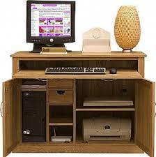 Hide Away Computer Desk Cavalli Solid Oak Computer Desk Hideaway Oak Computer Desk