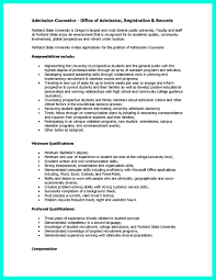Resume Template For College Application Admission Advisor Resume Resume For Your Job Application