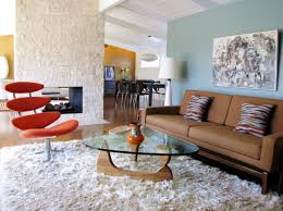 Modern Mid Century Sofa by Decor White Furry Rug Design Ideas With Midcentury Modern Plus