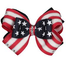 hair bow patriotic hair bows america the beautiful hair bow