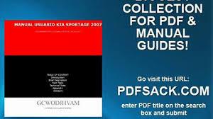 manual usuario kia sportage 2007 video dailymotion