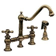 whitehaus kitchen faucet whitehaus whkbtcr3 9201 ab vintage iii kitchen bridge faucet with