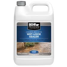 How To Seal A Paver Patio by Behr Premium 1 Gal Wet Look Sealer 98501 The Home Depot