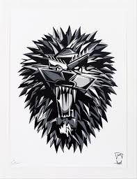 lion print inside the rock poster frame blog christophe roberts beast box