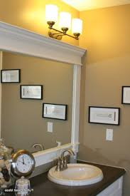 Bathroom Mirror Molding Fascinating How To Frame A Mirror With Molding And Save Image